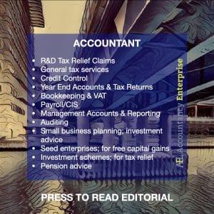 An advert for an accountancy practice